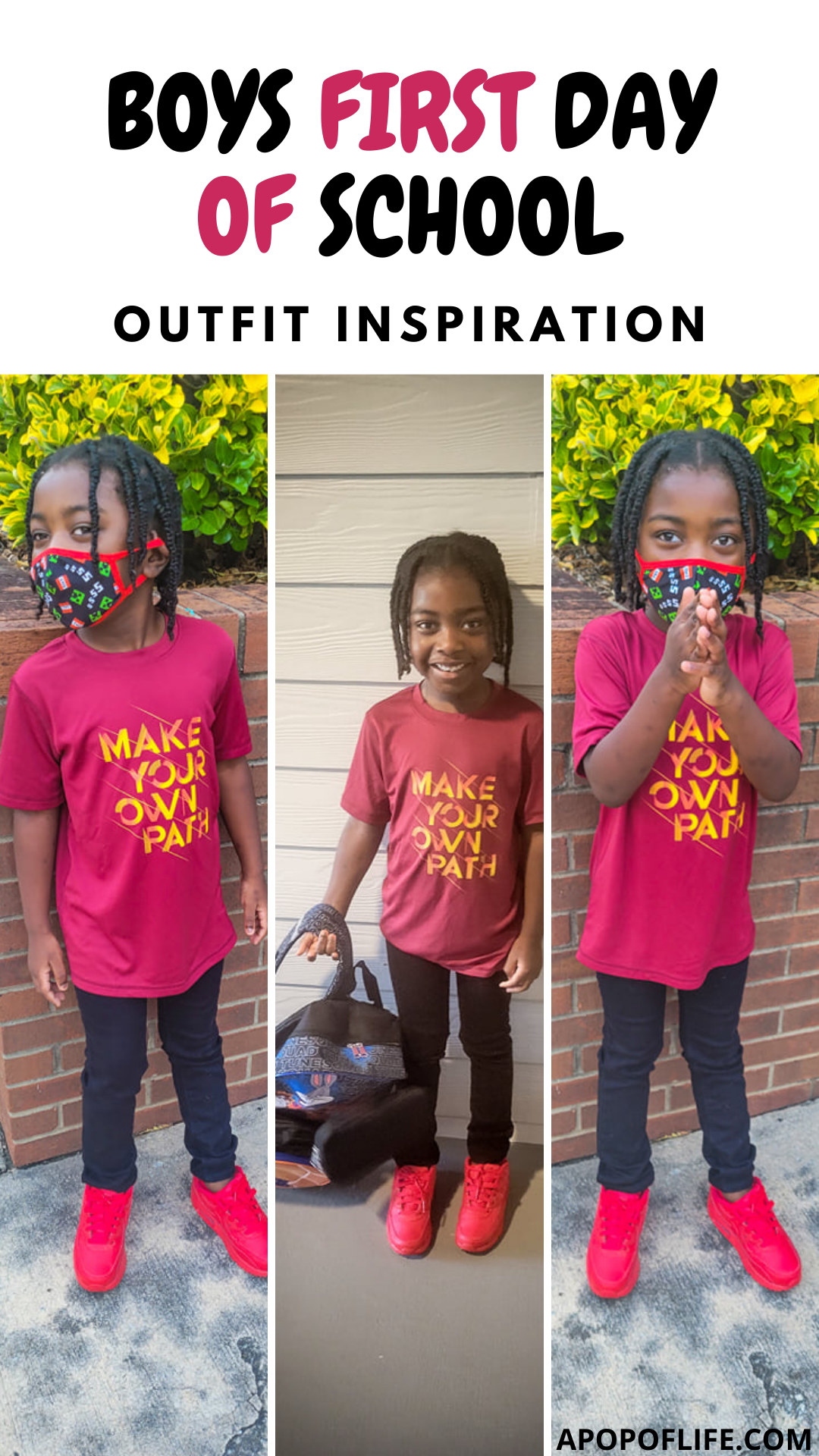 first day of school outfit, first day of school pictures, kindergarten outfits boys, kindergarten picture day outfit boys, back to school outfits, elementary fashion kids, elementary school fashion, big kid outfitsf